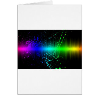 Abstract Sound Waves In Motion Greeting Card