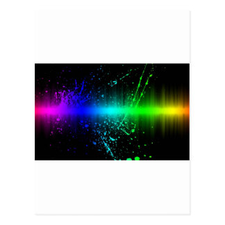Abstract Sound Waves In Motion Postcard