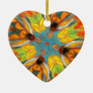 Abstract Southwestern Design Ceramic Ornament