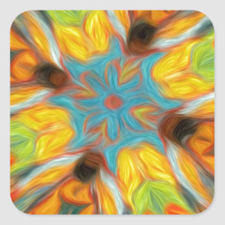 Abstract Southwestern Design Square Sticker
