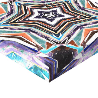 Abstract Spectral Star Canvas Print