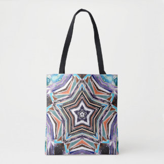 Abstract Spectral Star Tote Bag