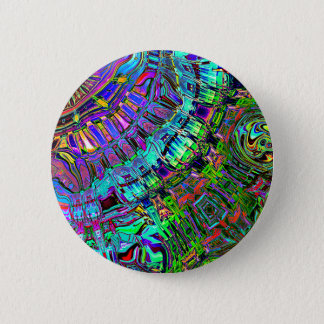 Abstract Spectrum of Shapes 6 Cm Round Badge
