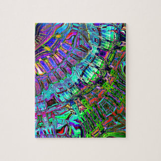 Abstract Spectrum of Shapes Jigsaw Puzzle