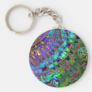 Abstract Spectrum of Shapes Key Ring