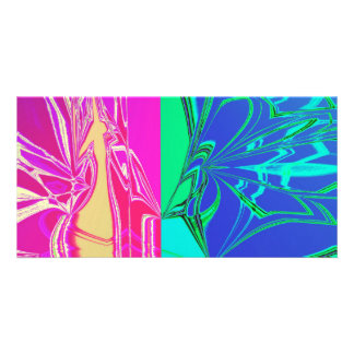 Abstract Spider Web Photo Card