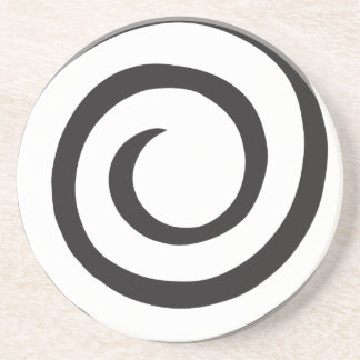 Abstract Spiral Beverage Coaster