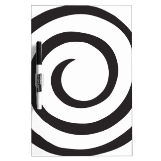 Abstract Spiral Dry Erase Board