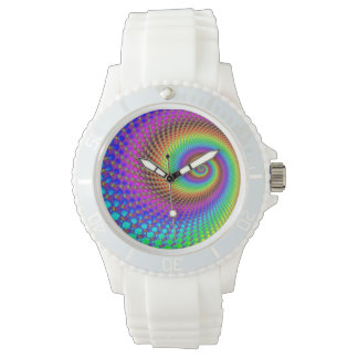 Abstract Spiral Fractal Watch