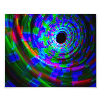 Abstract Spiral Light Painting Art Photo