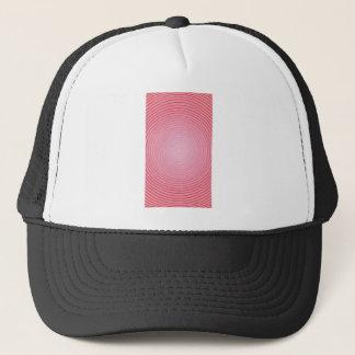 Abstract spiral pink background trucker hat