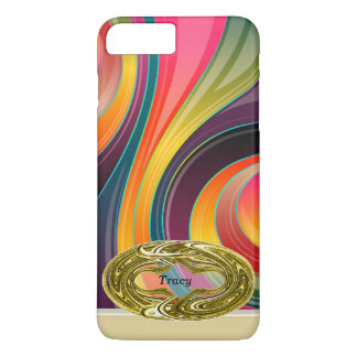 Abstract spiral rainbow colorful design iPhone 8 plus/7 plus case