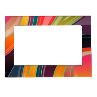 Abstract spiral rainbow colorful design magnetic frame
