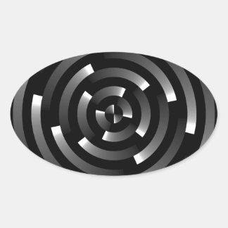 Abstract Spirals A Sticker