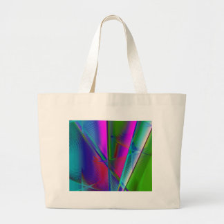 abstract spirograph background large tote bag