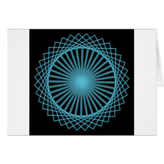 Abstract Spirograph Concentric Circle Pattern Card