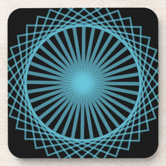 Abstract Spirograph Concentric Circle Pattern Coaster