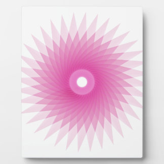 Abstract Spirograph Concentric Circle Pattern Photo Plaques