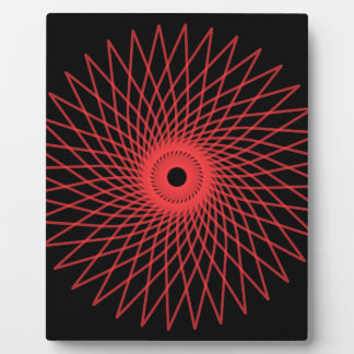 Abstract Spirograph Concentric Circle Pattern Plaques