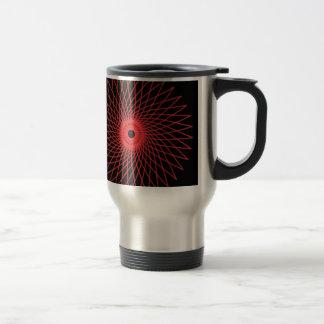 Abstract Spirograph Concentric Circle Pattern Travel Mug