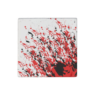 Abstract Splash and Drip Stone Magnet
