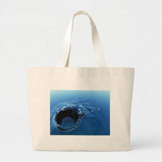abstract splash jumbo tote bag