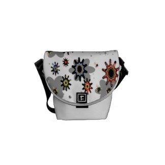 Abstract splashes courier bag