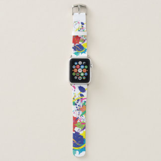 Abstract Splatter Paint Vector Digital Art Cool Apple Watch Band