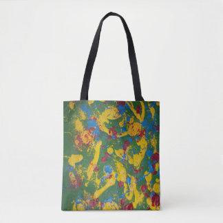 Abstract spring colors tote bag