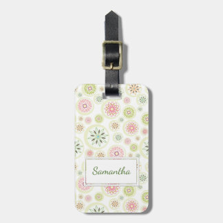 Abstract Spring Flowers Bag Tag