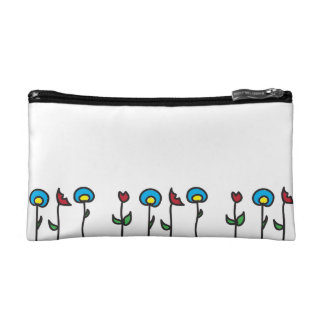 Abstract Spring Flowers Cosmetic Bag