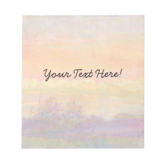 Abstract Spring Landscape Notepad