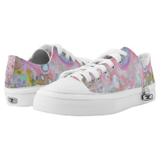 Abstract Spring Pour Low Tops