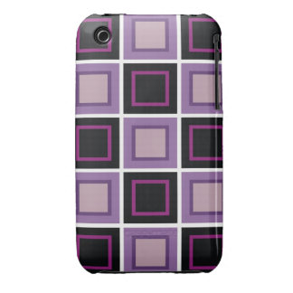 abstract square background wallpaper purple black iPhone 3 covers
