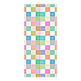 Abstract Square Multicolored Mosaic Rack Card Template