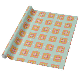 Abstract square Pattern Wrapping Paper