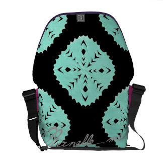 ABSTRACT SQUARE WYCINANKI MESSENGER BAGS
