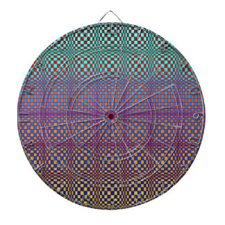 Abstract Squares 3 Dartboard