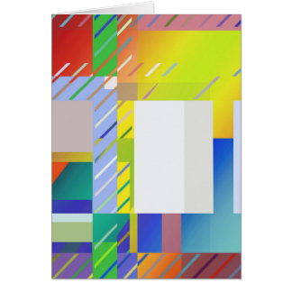 Abstract Squares Card