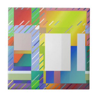 Abstract Squares Ceramic Tile