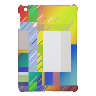 Abstract Squares iPad Mini Cover