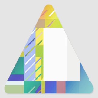 Abstract Squares Triangle Sticker