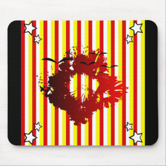 Abstract sriped mouse pad