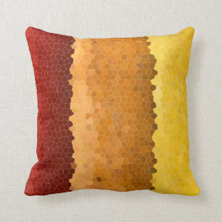 Abstract Stained Glass Autumn Red Orange Yellow Cushion