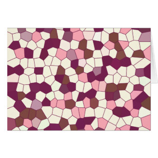 Abstract Stained Glass Blueberry Cheesecake Mosaic Card
