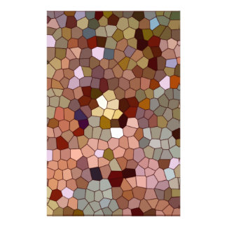 Abstract Stained Glass Copper Silver Metal Coins Stationery