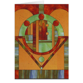 Abstract stained glass design card