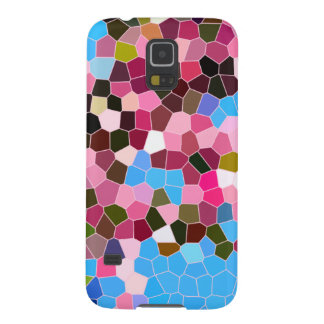 Abstract Stained Glass Pink Dark Green Blue Mosaic Galaxy S5 Case