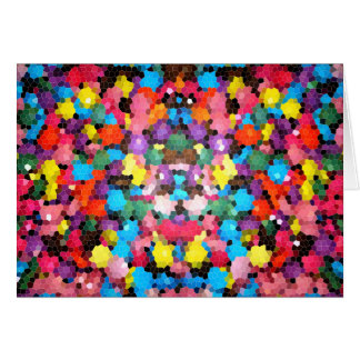 Abstract Stained Glass Vivid Rainbow Candy Mosaic Greeting Card