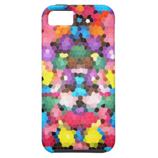 Abstract Stained Glass Vivid Rainbow Candy Mosaic Tough iPhone 5 Case